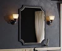 Зеркало для ванной комнаты AQWELLA LaDonna 70 Л7/BLK LAD0207BLK