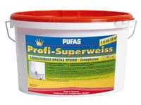 Краска PUFAS Однослойная Profi-Superweiss 1x10 л