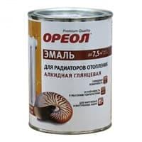 Эмаль Ореол для радиаторов отопл.терм.для вн.работ белая глянцовая 2,9кг