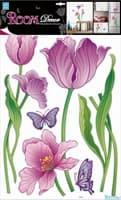 Элемент декоративный ROOM DECOR Тюльпаны с блестками RDA 9378