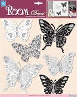 Элемент декоративный ROOM DECOR Черно-белые бабочки PSA 6701