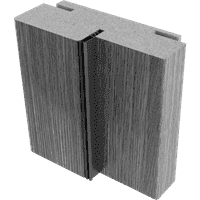 Коробка ОМИС дверная с пазами (пленка ПВХ, состоит из стойки-2,5шт) 2024*80*33 premium grey